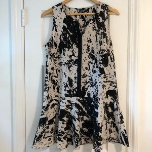Sparkle and Kind black and white dress